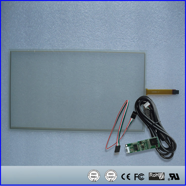 15.6 Inch Touch Screen Panel 358x208mm 4Wire Resistive USB Kit For 15.6