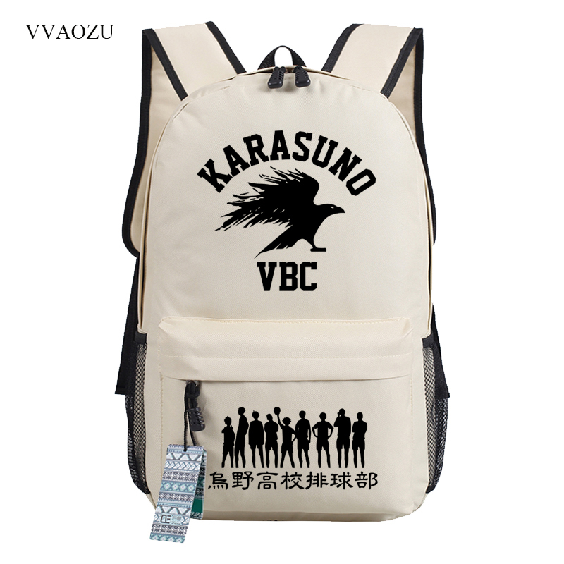 Haikyuu Backpack Vintage Canvas Backpacks School Bag Mens Travel Bags Large Capacity Shoulder Bag Backbag Mochila Rucksack