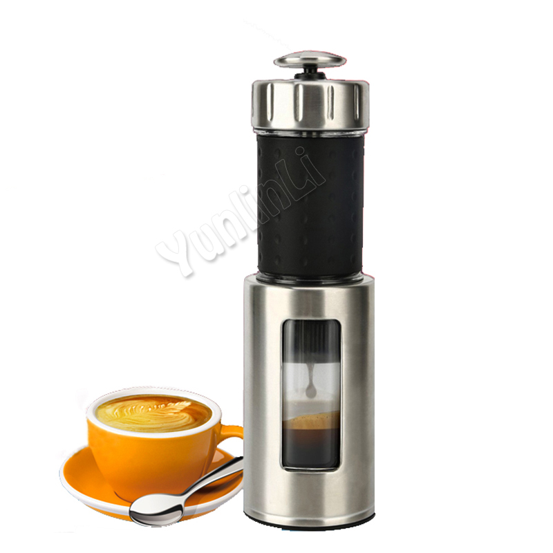 Portable Coffee Maker Mini Espresso Coffee Machine 80ML Manual Coffee Maker Outdoor Travel Coffee Maker household fully automatic coffee maker cup portable mini burr coffee makers cup usb rechargeable capsule coffee machine