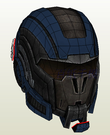 Mass Effect N7 Color 1:1 Helmet Can Cosplay 3D Paper Model