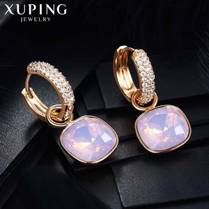 Image 4 - Xuping Jewelry Luxury Exquisite Crystals from Swarovski Gold Color Plated Earrings for Women Valentines Day Gifts M65 203