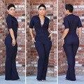 Senhoras Playsuit Romper Jumpsuit 2016 Verão Sexy Macacão para Mulheres Plus Size Macacões para As Mulheres Jumpsuit Elegante Vendas Quentes