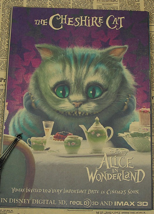US $7 3 |Alice in Wonderland Tim Burton Johnny Depp Home Decoration Kraft  Paper Poster Drawing Core Wall Stickers-in Wall Stickers from Home & Garden