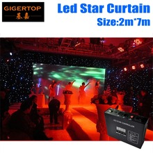 High Quality 2M*7M&7M*2M LED Star Curtain,RGBW/RGB Colored  LED Stage Backdrop,LED Star Cloth for Wedding Decoration 90V-240V