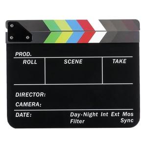 Image 4 - Yönetmen Video sahne klaket klaket kurulu akrilik kuru silme direktörü TV Film Film eylem kayrak alkış el yapımı Cut Prop