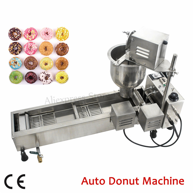 Automatic Donut Making Machine Mini Doughnut Maker Stainless Steel Donuts Frying Machine 110V220V