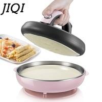JIQI Automatic Non stick Crepe Makers mini Pancake machine Pizza Maker Household Kitchen Tool electric baking pan Metal stent EU