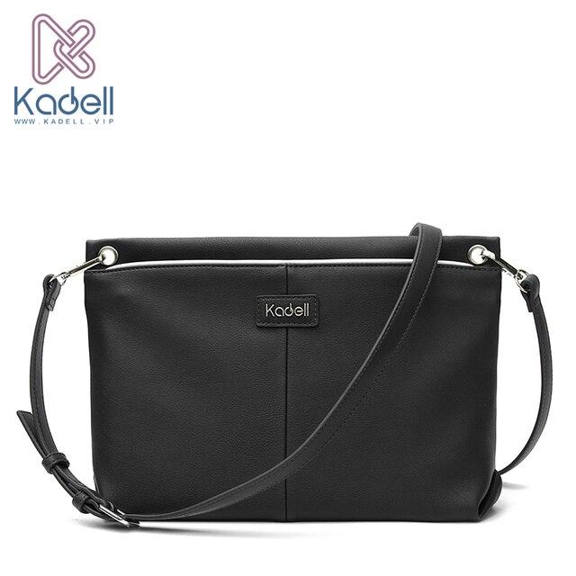 Kadell высокое качество Для женщин кожа Сумки Курьерские сумки Винтаж конверт мешок Повседневное черный Сумки на плечо сумка бренд конверт