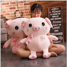 WYZHY  New Year gift mascot down cotton sitting posture pig doll plush toy home decoration to send friends children gifts 30CM