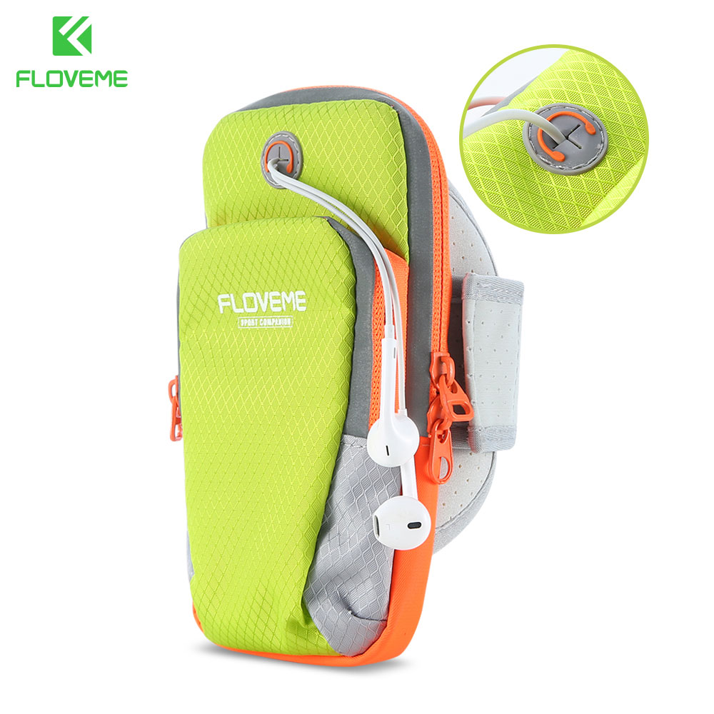 FLOVEME Sports Case For Mobile Phone For iPhone Samsung Galaxy Xiaomi LG Sport Arm Band Phone Bag Case 6 inch Pouch Cover Shell