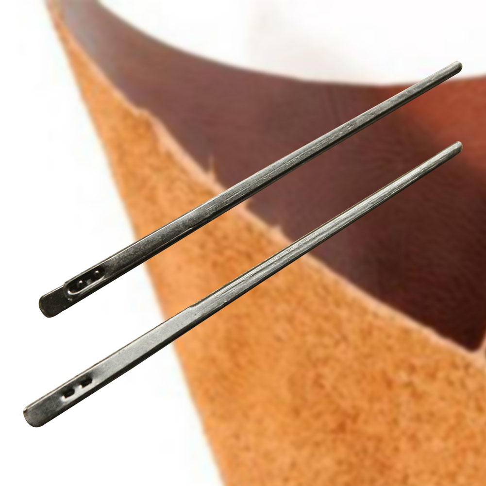 2PCS Leather Knitting Needle Handwork Double Hole Stable Manual Home Tool Professional Small Craft Durable Sewing DIY Rope Lace