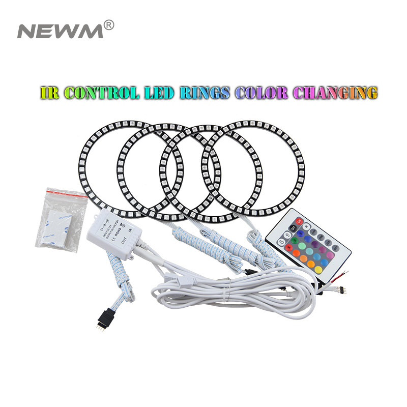 SMD5050 Led Angel Eyes Universal Ring Color Change rgb led halo rings 40mm 50mm 66mm 72mm 75mm 80mm 90mm 100mm 105mm 115mm