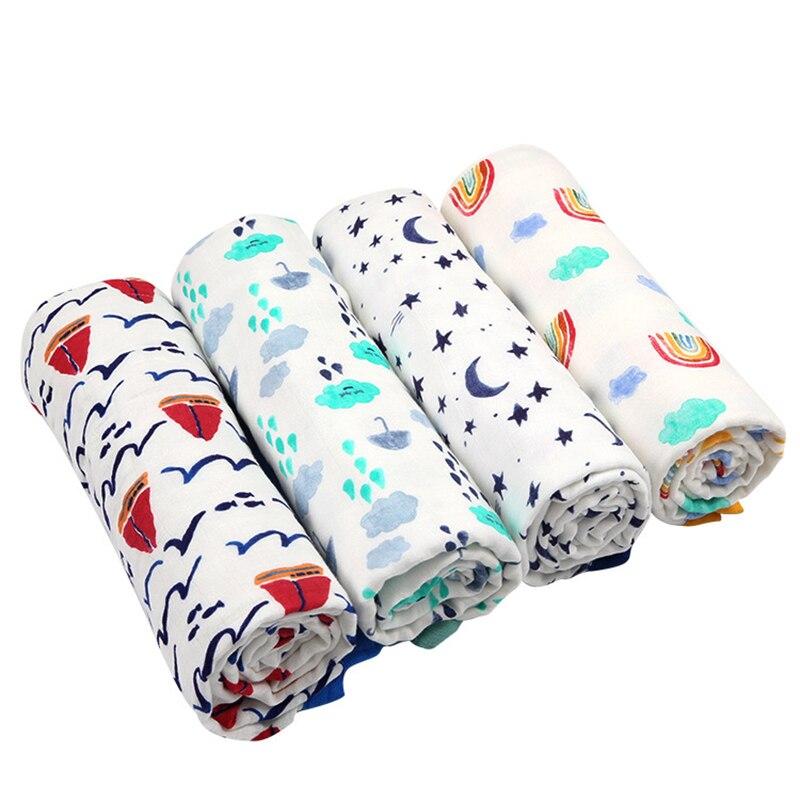 Gerade 2 Schichten Babydecke Für Neugeborene Bambusfaser Baumwolle Musselin Swaddle Für Infant Baby Bettwäsche Blatt Spielmatte Für Kinder Badetuch Gute Begleiter FüR Kinder Sowie Erwachsene