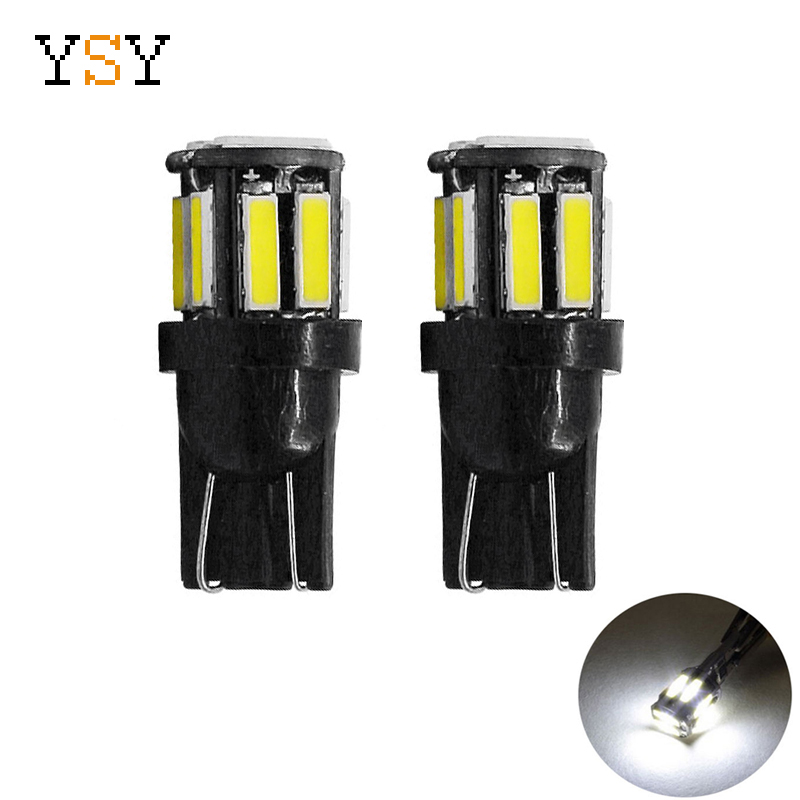 500pcs W5W 10LED 7020 SMD Car T10 LED 194 168 Wedge Replacement Reverse Instrument Panel Lamp
