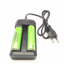 2PCS 3400mah 3.7V 18650 Battery Rechargeable Li-ion Batteries with PCB Protected +1PCS Dual slot charger цена в Москве и Питере
