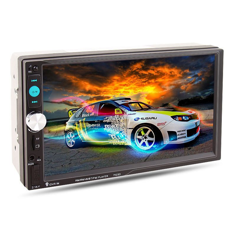 7 Inch HD Touch Screen 7023D 2 Din Car Radio MP5 Player Phone Stereo Radio Card Reader Radio Fast Charge without Rear camer 2017 7023d double 2din car radio 7 bluetooth hd card reader radio fast charge car stereo audio mp5 player without rear camera
