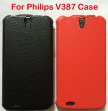 2016 Hot sale Flip Leather Case For Philips Xenium V387 Cover Phone Case + Free Shipping