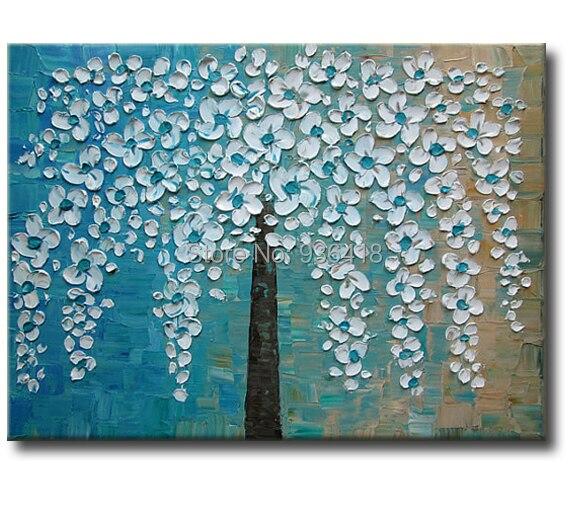 Abstract Tree Paintingimpasto Tree Painting On Cotton Canvas