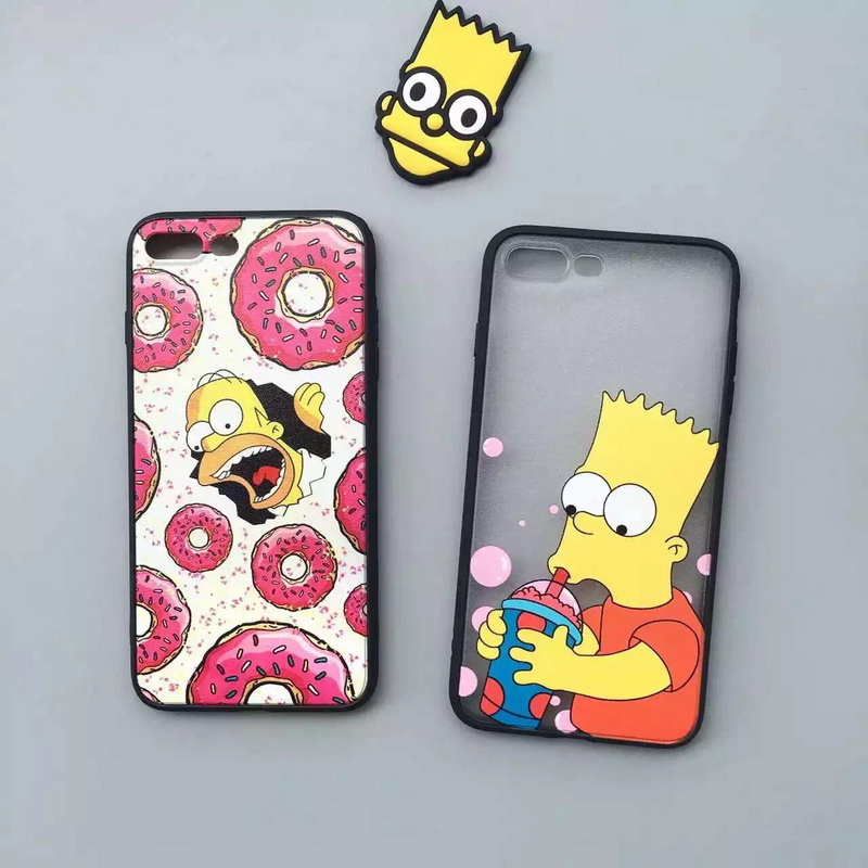 on sale 0c18d 8df73 Nieuwe Collectie Luxe Donut Case Zwart Frame Leuke Cartoon De Simpsons  telefoon Case Voor Apple iPhone 7 4.7 inch 7 Plus Achterkant Case in Nieuwe  ...