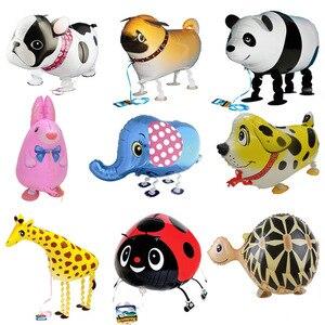 Image 2 - Ballons en feuille de marche, 20 pièces/lot, pour cadeau danniversaire, en animaux de ferme, livraison gratuite