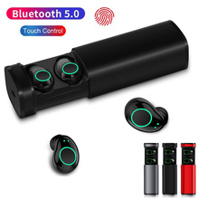 Touch Control TWS Bluetooth 5.0 Earphones Wireless Earbuds Stereo HIFI Hands free Sport Earphone With MIC 800mAh Charger Box bluetooth touch control hifi earphone with mic rockspace eb30 tws wireless earbuds stereo microphone for phone with charger box