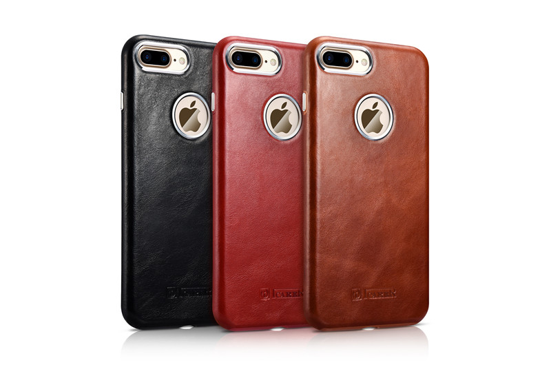 Vintage Phone back case For Apple iPhone 7 Luxury Genuine Leather original icarer Mobile Phone Case