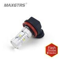2x Strobe Flash Flicker Model H8 H11 9005 9006 HB3 HB4 CREE Chip Fog Tail Headlight