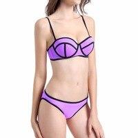 AUYLVY High Grade Nylon Bikinis 2018 Swimwear Women Bandage Swimsuits Brazilian Push Up Bikini Set Bathing Suits Biquini Beach