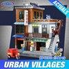XingBao 01013 2706 Pcs Genuine Creative MOC City Series The Urban Village Set Building Blocks Bricks