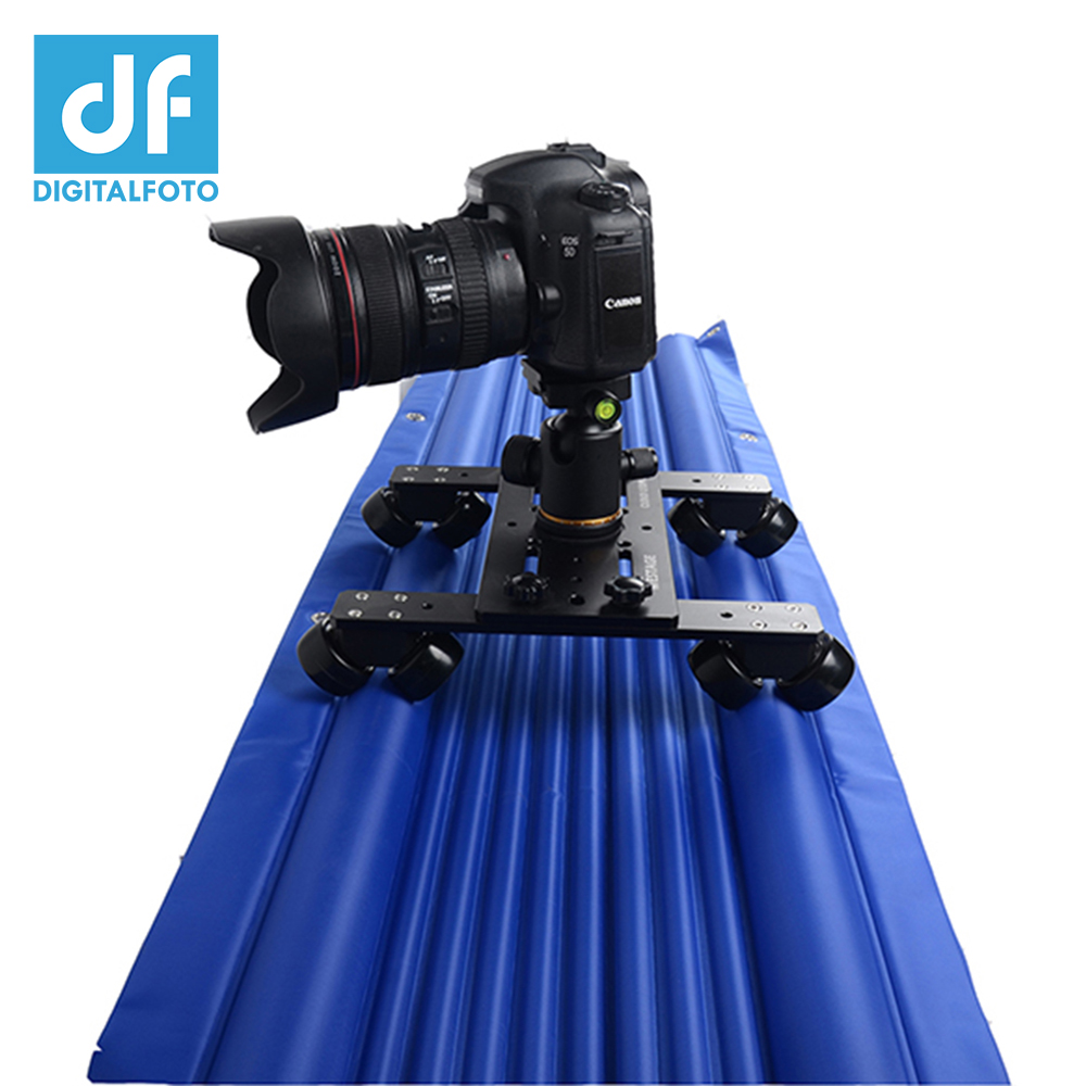 DF DIGITALFOTO Professional air track camera slider design travel portable video slider 1.2m 120cm dolly track jib dslr rail pvc camping flashlight torch linternas 2 modes led flashlight with bottom magnet and hook use 4 aaa batteries