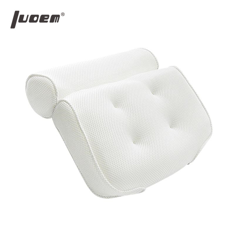 LUOEM Breathable 3D Mesh Spa Bath Pillow with Suction Cups Neck and Back Support Spa Pillow for Home Hot Tub