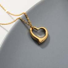 Hollow Heart Necklaces For Women Gold Silver Plated chain Love Shape Pendant Necklace Wedding Gift