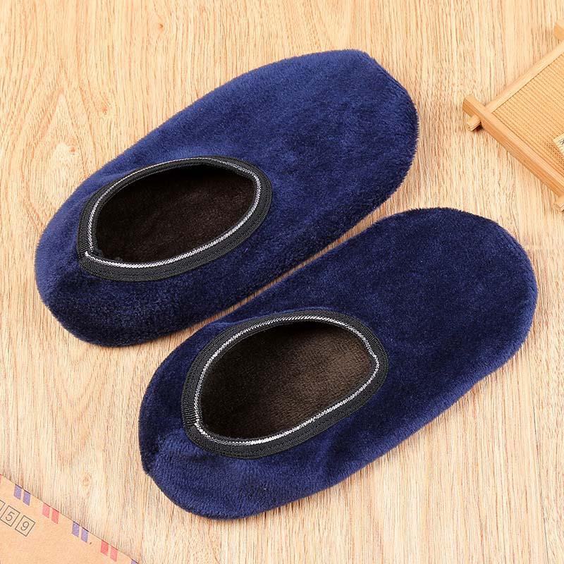 1Pair Winter Socks Men Black Gray Floor Socks Winter Autumn Men Socks Thicker Warm Shoes Socks