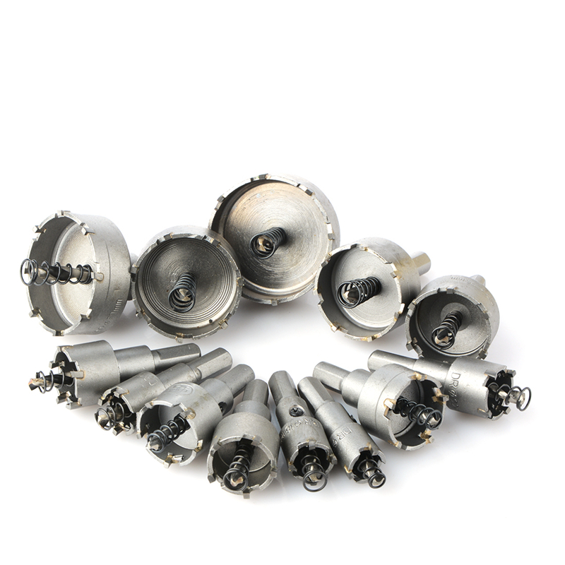 13pcs/set 16 18 20 22mm Carbide Tip TCT Drill Bit Hole Saw Set Stainless Steel Metalworking Metal Cutter Hole Saw Drilling lixf carbide tip metal cutter stainless steel hss drill bit hole saw holesaw size 45mm