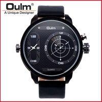 En lüks çift japon hareketi kuvars İzle askeri büyük arama 2 zaman dilimi askeri oulm marka erkek İzle Hediye reloj hombre