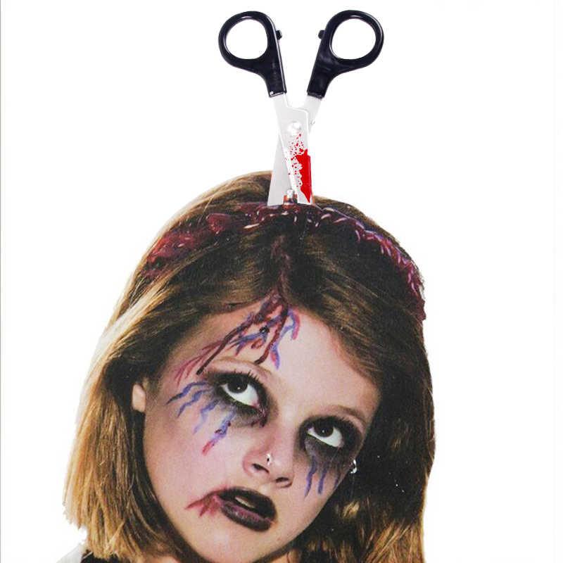 QIFU Tesoura Faca Chopper Halloween Headband Prop Feliz 2019 Acessórios de Decoração Do Partido Dos Miúdos do Dia Das Bruxas Decoração de Halloween Horror