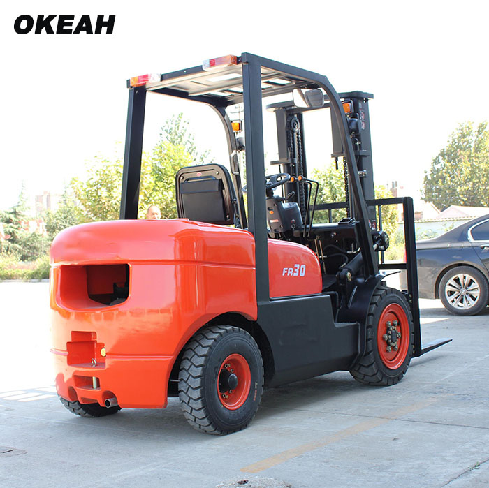 Export-type 3 Ton Forklift Diesel Engine Handling Equipment Large Quantity Have Discount