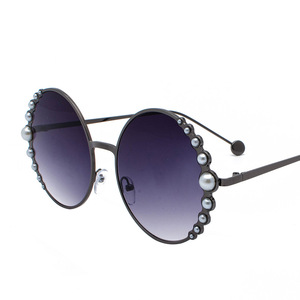 Image 3 - แว่นตากันแดดรอบไข่มุกสีดำผู้หญิงทอง Beach Shades สีแดงส่วนลดแบรนด์กรณีฟรีเรือ