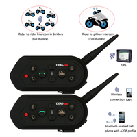 2017 Vnetphone 2pcs E6 Pro Motorcycle Helmet Bluetooth Headset Intercom 6 Riders 1200M Wireless Intercomunicador BT
