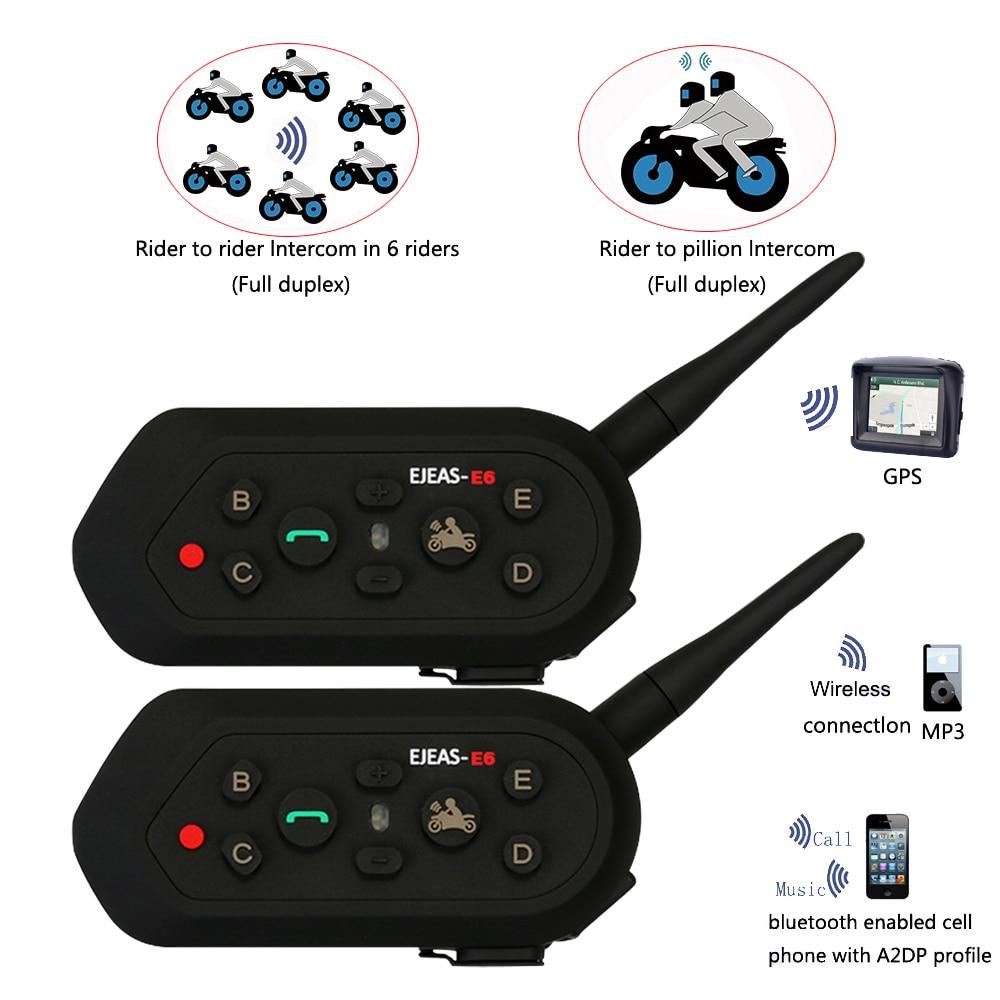 2018 Vnetphone 2 unids E6 Pro Casco de la motocicleta Auricular - Accesorios y repuestos para motocicletas
