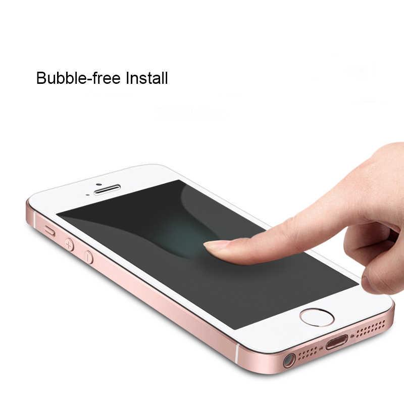 واقي للشاشة من الزجاج المقسى لهاتف آيفون 7 الزجاج 9H 2.5D طبقة رقيقة واقية لهاتف آيفون 6 6S 5s 7 8 SE 5 5C XR XS Max XR Glas