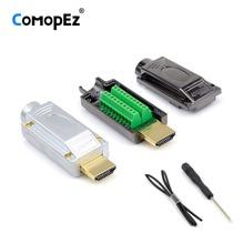 HDMI 2,0 1,4 HD адаптер разъем Breakout терминал доска, нет необходимости пайки Высокое качество, с корпусом Shell