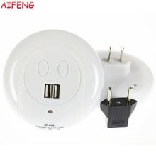 AIFENG Light Sensor Night Light Dual USB Led Luminaria US Plug+EU Adapter Lamp For Kitchen Bedroom Baby Light Sensor Night Light