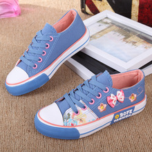 2016 Girls Skateboarding Shoes Nonslip Kids Sneakers Children Sport Shoes Canvas Shoe Infant Rosette outdoor shoe