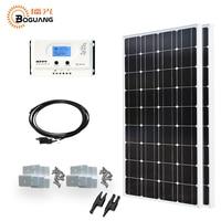 Boguang 200 Вт солнечной системы 2*100 Вт солнечные панели 20A контроллер MPPT MC4 Соединительный кабель для 12 В батареи свет Главная зарядное устройств