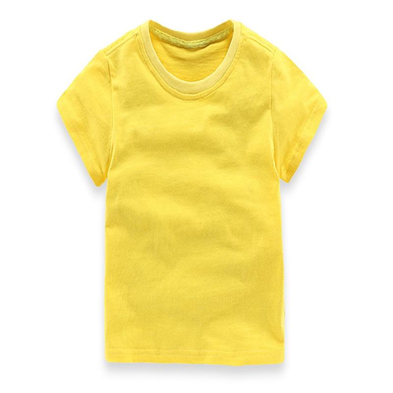 2018 Ең жаңа жігіттер Қыздар T Shirt Қатты - Балалар киімі - фото 4