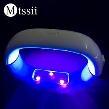 Mtssii 9w LED Lamp Nail Dryer 15x4x4cm Micro USB Nail Gel Po