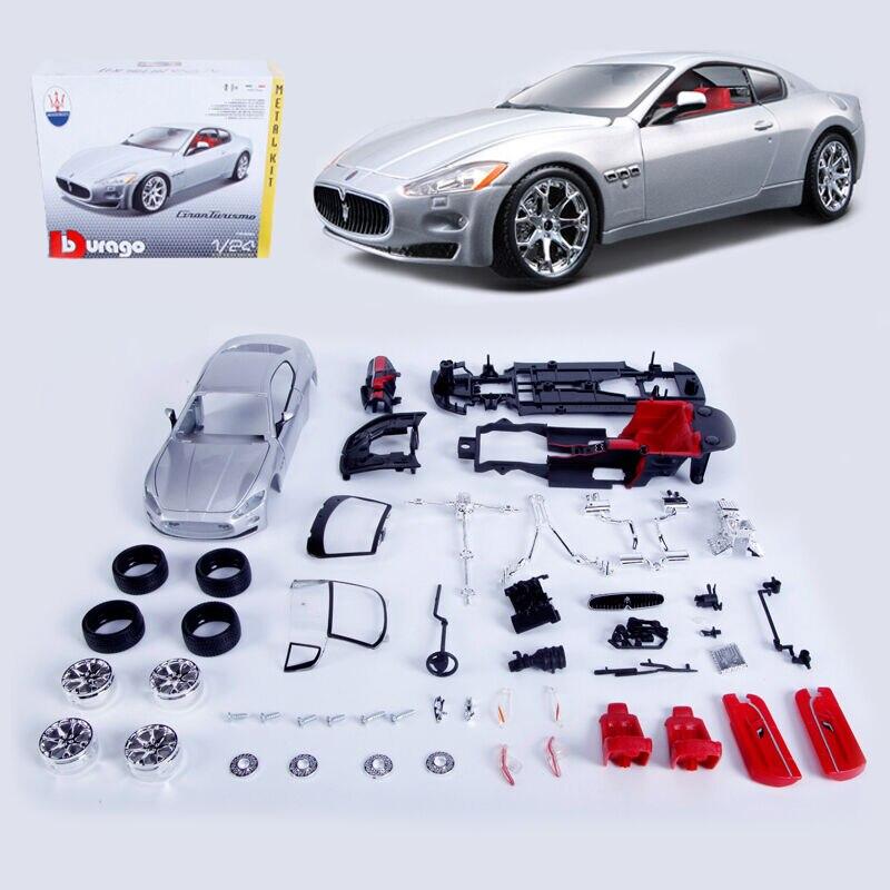 Bburago 1:24 Maserati GT Assembly DIY Racing Car Diecast MODEL KITS Toy Vehicle NEW IN BOX