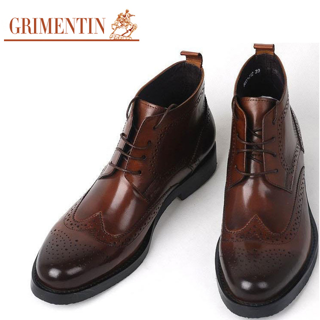 Brown And Black Wingtip Shoes For Men  S