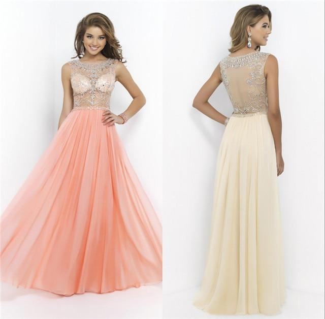Transparent Corset Abendkleider Chiffon Luxury Beading Princess ...